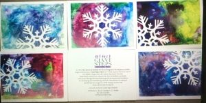 Snowflake cards 2014